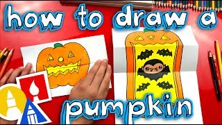 How To Draw A Big Mouth Pumpkin With Folding