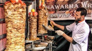 Triple Shawarma Tasted in London Leather Lane Market. World Street Food