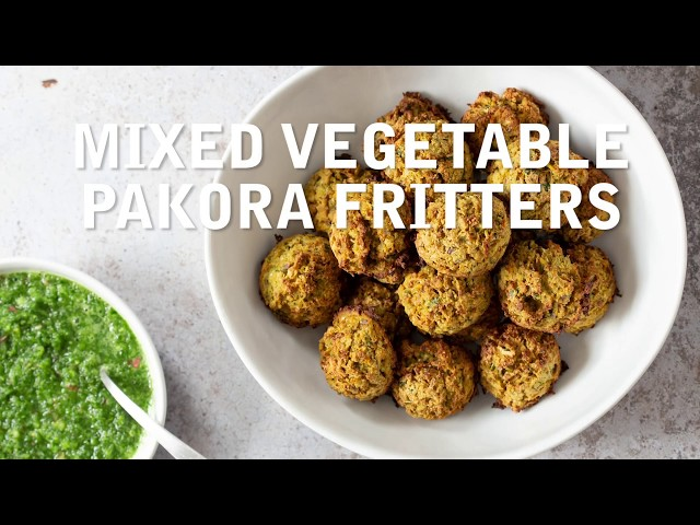 MIXED VEGETABLE PAKORA BAKED FRITTERS | Vegan Richa Recipes
