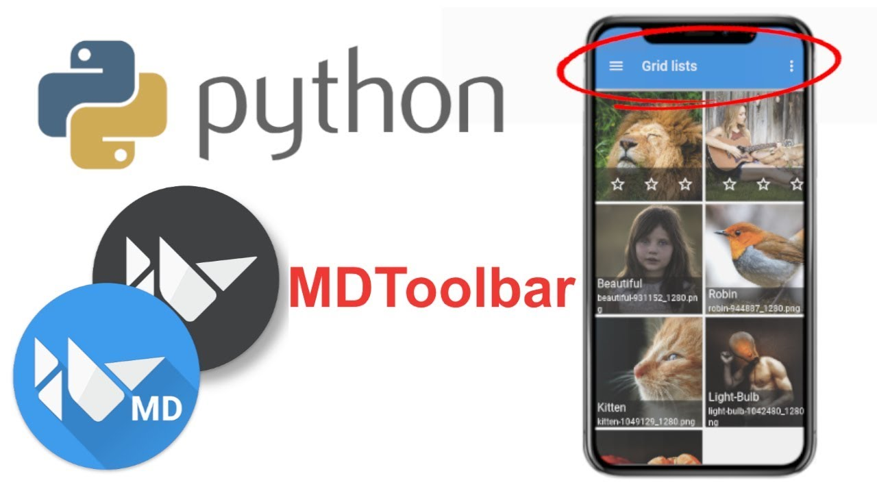 Learn to Make Beautiful Mobile Apps in Python   KivyMD Tutorial - MDToolbar