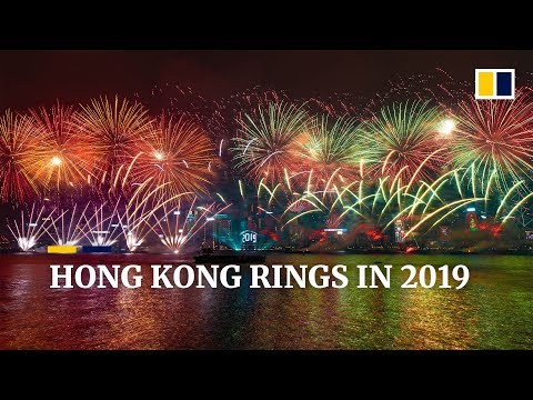 Hong Kong rings in 2019 with 10-minute fireworks show Mp3