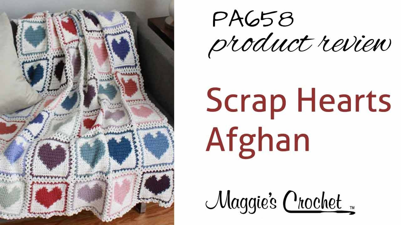 Scrap Hearts Afghan Crochet Pattern Product Review Pa658