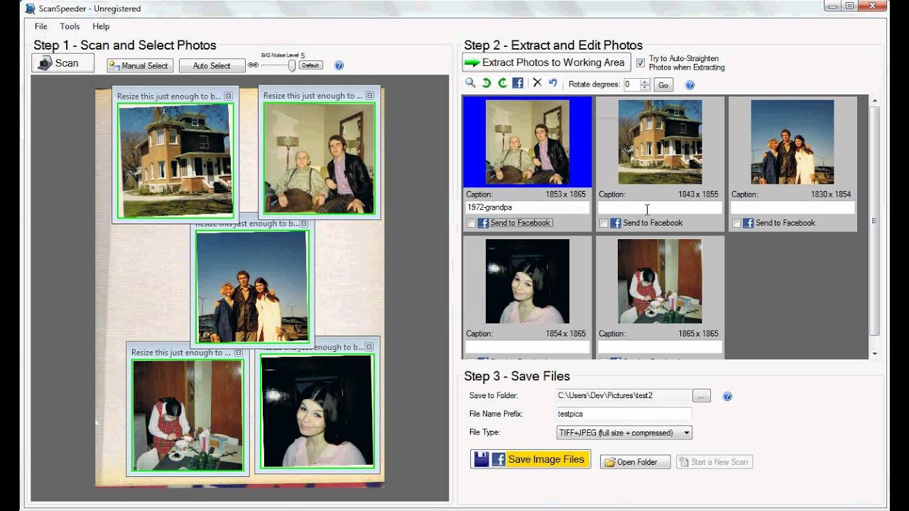 How to Scan Multiple Photos at Once - ScanSpeeder - YouTube