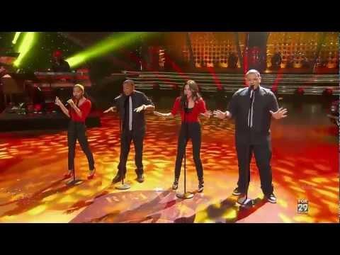 American Idol - Rockin Robin - David Leathers Jr, Jeremy Rosado, Ariel Sprague, Gabi Carrubba