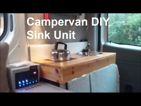 CamperVan DIY Sink Unit  YouTube