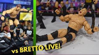 WWE ACTION FIGURE SETUP! VS BRETTO LIVE!
