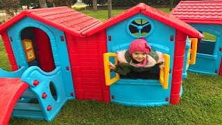 Masal Pretend Play with Playhouse for kids Funny video Compilation