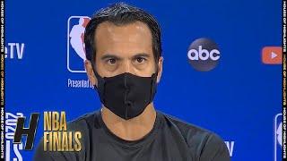 Erik Spoelstra Full Interview - Game 3 Preview   Lakers vs Heat   2020 NBA Finals