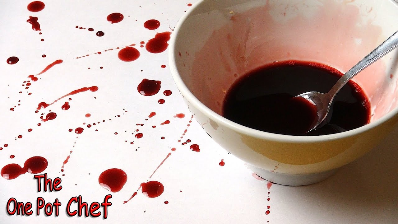 quick tips fake blood for halloween one pot chef youtube - Blood For Halloween