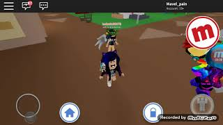 Playing meepcity with my friend in roblox