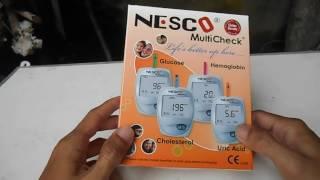 Unboxing Dan Demo Penggunaan Nesco alat cek kolesterol gula darah asam urat