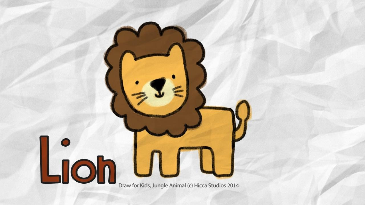 Draw for Kids Lion  YouTube