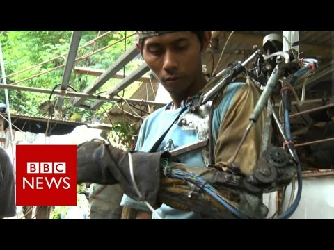 'How I Made Bionic Arm Out Of Junk' - BBC News