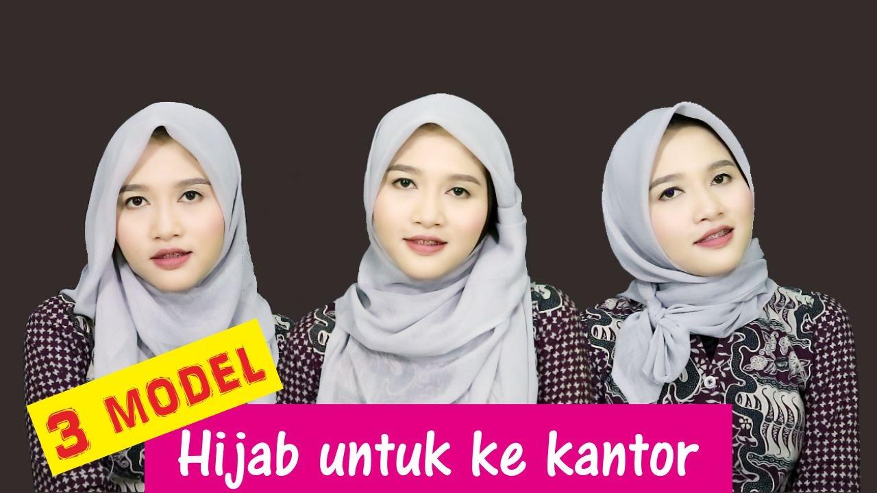 3 Tutorial Hijab Segiempat Paris Untuk Ke Kantor Amalia Kurnia