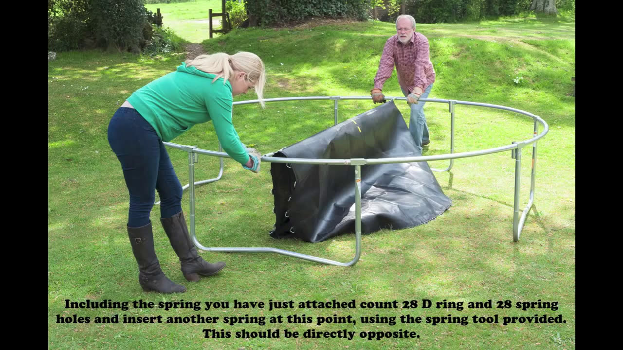 jumpking 10ft trampoline with enclosure assembly instructions