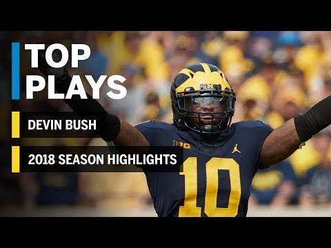 Season Highlights: Devin Bush Declares for 2019 NFL Draft | Michigan | Big Ten Football