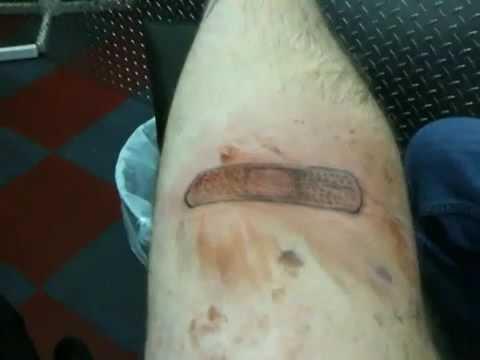 Band aid tattoo youtube for Band aid tattoo