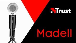 распаковка микрофона Trust Madell  Тест