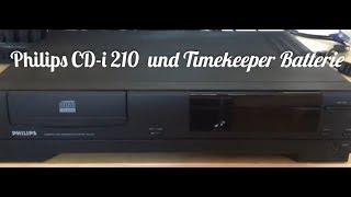 (RP) #3 Philips CD-i Konṡole - Teil 3 - Gerät CDI 210 + Batterie Timekeeper (deutsch)