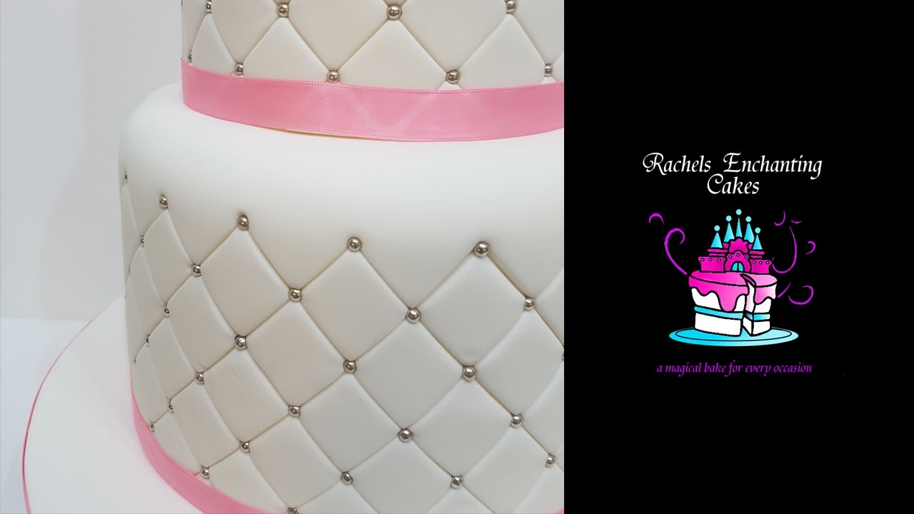 Quilted Effect Wedding Cake - How To - YouTube