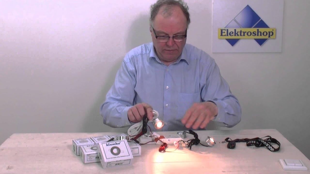 Dimbare LED inbouwspots van Klemko-Verona aansluiten - YouTube