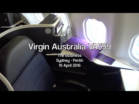 Virgin Australia 'The Business' VA559: Sydney to Perth, Australia