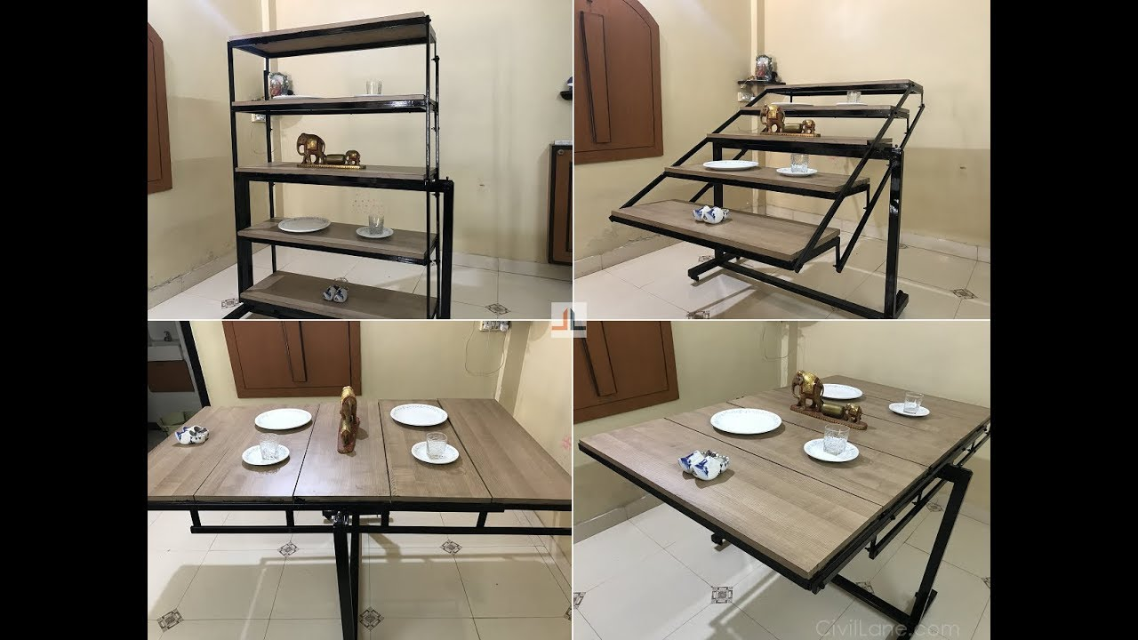 convertible dining table shelf space saving furniture by rh youtube com  small convertible kitchen table