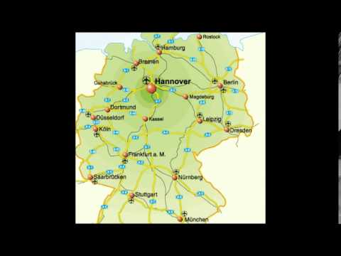 Germany Map With Cities YouTube - Germany map and cities