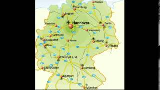 Germany Map with cities