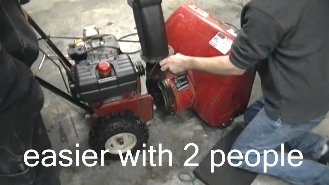 How To Change Or Replace Your Belts On Two Stage Mtd Snowblower Engine Diagram The Hard Way Youtube