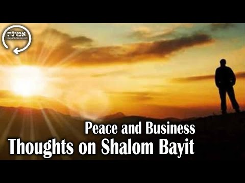 Peace And Business | Thoughts On Shalom Bayit (Peace In The Home)
