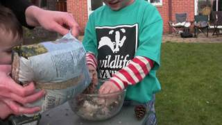 Wildlife Watch - How To Make A Pine Cone Birdfeeder