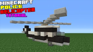 Minecraft Tutorial: How To Make A Police Helicopter
