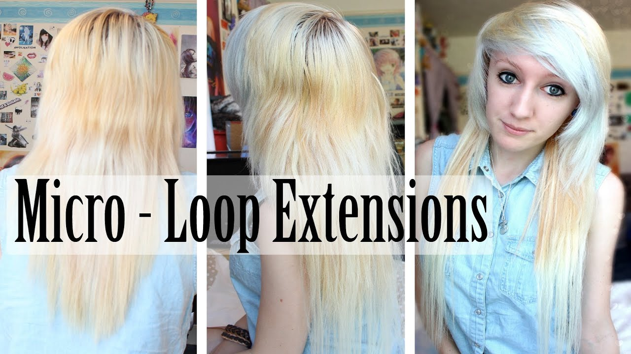 Applying Micro Loop Hair Extensions Youtube