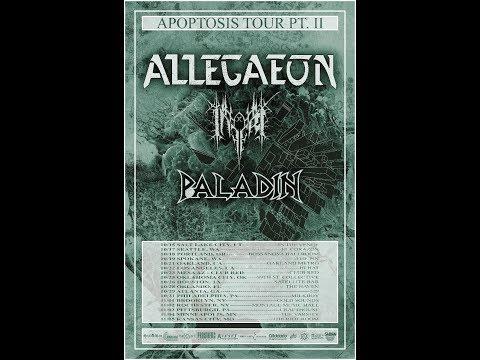 """Allegaeon announce """"Apoptosis Tour Pt II""""  with Inferi, Paladin"""