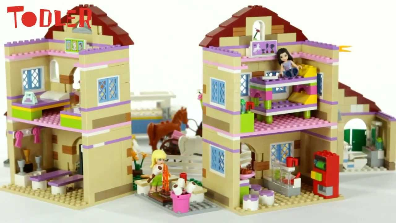 Lego Friends Letni Obóz Jeździecki 3185 Youtube