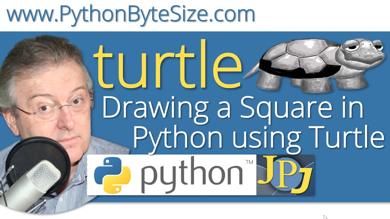 Drawing A Square In Python Using Turtle Youtube