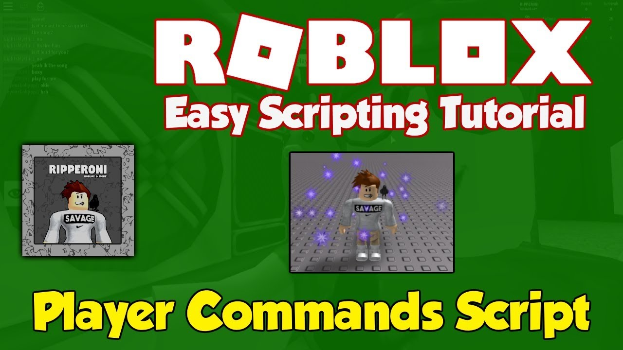 Roblox How To Create Custom Player Commands Youtube