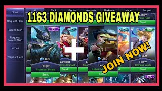 1163 DIAMONDS GIVEAWAY |MONTH OF AUGUST|