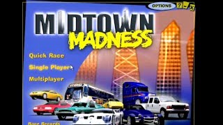 60fps 720p - Midtown Madness 1 (PC) - Checkpoint Races 1-4