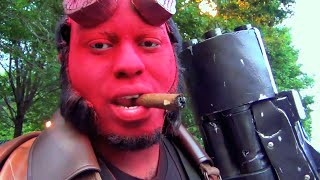 Hellboy Pranks People in The Park! (Part 1/3) Real Life Superhero Parody