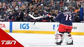 Is the 'issue' with Bobrovsky mainly friction between he and Tortorella?