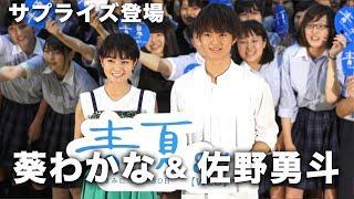 映画『青夏 きみに恋した30日』に出演した葵わかなと佐野勇斗が、淑徳巣...
