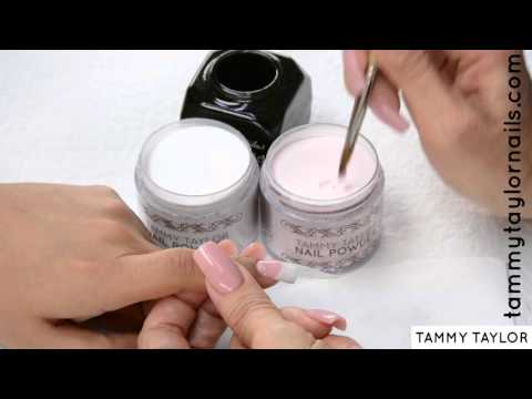 ♡ Tammy Taylor FAST, EASY PINK & WHITE NAIL EXTENSION