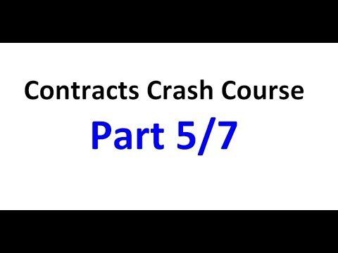 Contracts - Exam Crash Course Part 5/7