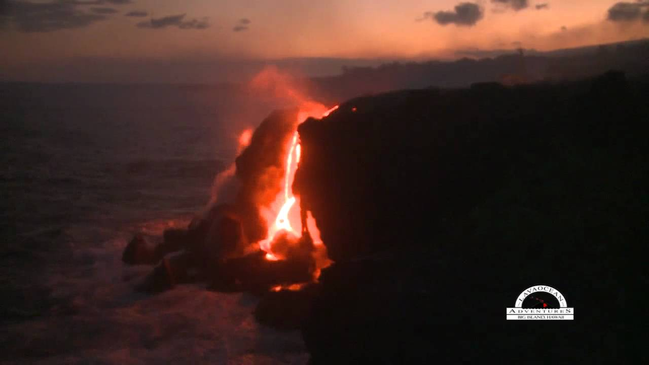 Hawaii Lava Flows Into Ocean