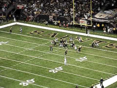Monday Night Football Pierre Thomas Second Touchdown New Orleans Saints vs Atlanta Falcons 2009