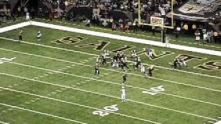 Monday Night Football Pierre Thomas Second Touchdown New Orleans Saints vs Atlanta Falcons 2009