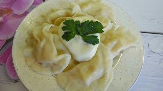 Вареники с картошкой, по домашнему. Рецепт приготовления.