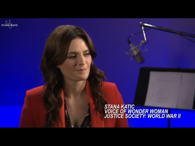 Stana Katic - parla del doppiaggio di Wonder Woman (Justice Society: World War II)